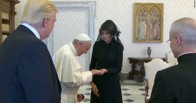 Melania Has Rosary Beads Blessed by Pope Francis. First Catholic in White House Since JFK