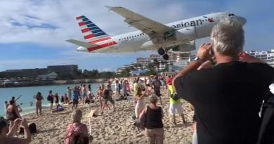 Woman Dies After Jet Blast on St. Maarten Island – Watch Video of Famous Beach Landings… Scary  …Pray, Pray, Pray.