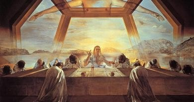 "Hidden Treasure – Did You Know The Most Popular Work of Art in America is a Painting of The Last Supper by Salvador Dali? – Smithsonian Art Gallery Ambivalent – ""Painting hangs in a corner by the elevator."""