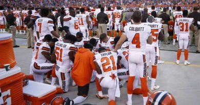 "Ohio judge slams Cleveland Browns players for protest during national anthem…""draft dodging millionaire athletes"" disrespect veterans – adding ""shame on you all."""