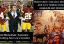 "The irony missed by all: Millionaire football players dressed as ""Redskins"" protesting America's injustice on land where Native American's once raised their families"