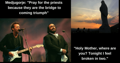 """Holy Mother, where are you? Tonight I feel broken in two.""  Clapton and Pavarotti's Epic Mournful Cry to Our Lady….A Church in crisis…Today our Church is in pain and it needs our prayers. Our Lady Says ""Pray for our priests because they are the bridge to the coming triumph"""