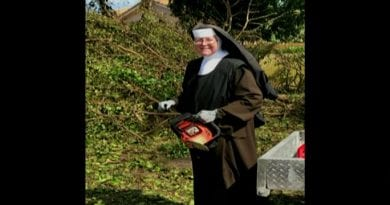 Storm Damage from Irma No Match for Nun with Chainsaw