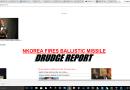 North Korea fires new ballistic missile. Stock Market Turns Negative