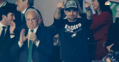 "Eagle's # 1 Fan Bradley Cooper…""I grew up a Roman Catholic…""I loved my Father, I Loved the way he prayed"""