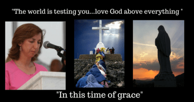 "February 25,  2018 Monthly Message from Medjugorje…""look at God's creatures which He has given to you in beauty… The world is testing you…love God above everything"