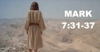 Friday 9th February 2018…Today's Holy Gospel of Jesus Christ according to Saint Mark 7:31-37.