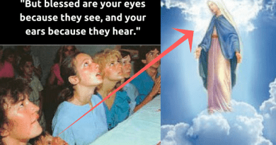 "Only Brains Stuck in Quicksand Will Not Believe this ""Proof"" that the Virgin Mary is Here on Earth to Save the World from the Inferno… Classic 2.00 Minute Video of Young Medjugorje Visionaries at Decisive Moment When Our Lady Arrives"