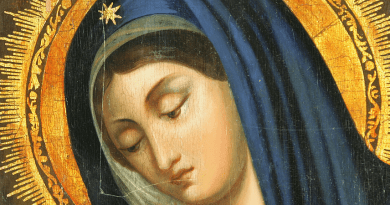 To those who are discouraged, depressed or tired, Our Lady says words of comfort and healing