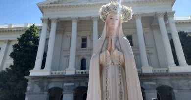 Our Lady asks us to be her apostles …Queen of Peace Media honors her call, marching in the Great Marian Procession in California…3 days later, California's Assisted Suicide Law is overturned.