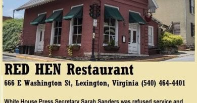 Address 666 Red Hen Restaurant..Utterly Disturbing . Restaurant Owner Kicks Out White Christian Sarah Sanders – Trump Press Secretary