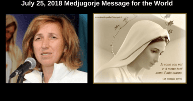 "July 25, 2018 Medjugorje Message for the World…""He is your refuge from every evil that lurks and carries souls far from the grace"""