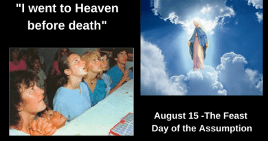 "Our Lady of Medjugorje Tells Visionaries ..""I went to Heaven before death""…August 15 –  Feast of The Assumption"