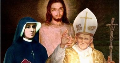 A Short Prayer of intercession with Santa Faustina to ask for a special favor today… written by John Paul II