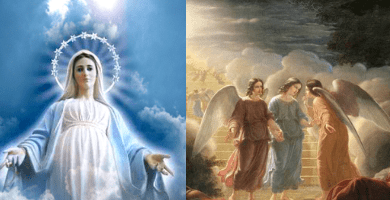 """Medjugorje: Angels are real… Visionary Marija: """"Our Lady often comes with many angels, small and large. When Our Lady is sad the Angels are sad."""""""
