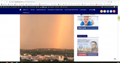 October 8, 2018 Video.. Incredible Image Appears in the Sky From Medjugorje that Many People are Talking About.