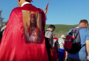 A Surprise on Apparition Hill. Pilgrims with Red Capes Come with Relics from Saints..Bones of St. Francis of Assisi Climb the Hill. Something Beautiful in This Video.