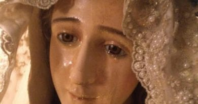 Spirit Daily Has Exclusive photos of Statue of Virgin Mary Weeping for 20 Years – Mysterious Couple Observe Strict Privacy