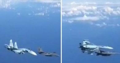 "World War 3: ""Remarkable Video""- TERRIFYING moment Russian and US warplanes CLASH over Baltic sea"