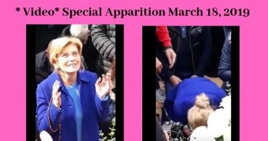 March 18, 2019 Medjugorje Apparition with Mirjana (Video and message) – From Ecstasy to Agony…at end of apparition Mirjana seems to suffer badly.
