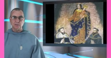 "One of the great wonders of the world – The Miraculous Image of Our Lady of Las Lajas ""Scientists have discovered that there is no paint, dye, or pigment on the surface of the rock."""