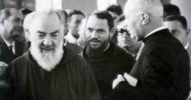 "Padre Pio and the Soul from Purgatory ""That cry of complaint produced a wound to my heart, which I felt and will feel my whole life."" ..The soul screamed ""Cruel!"", then disappeared."""