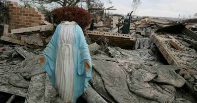 "Vandalism: Two statues of the Madonna destroyed…""We heard them laughing, but we could not imagine"""