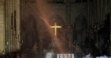Cross at center of Notre Dame cathedral remains miraculously intact