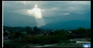 Christ figure in sky sparks  religious frenzy in Argentina