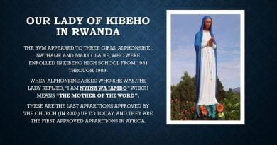 """Catholic Prophecy from Jesus and the Virgin Mary at Kibeho: """"The Mother of the Word emphasized the importance of the preparation of the human race for the new coming of the Lord, the last and definitive one that will bring with it the last judgment."""""""
