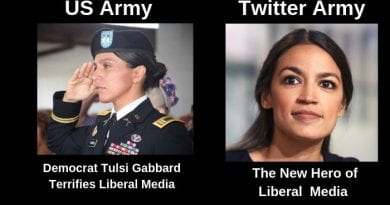 Tulsi Gabbard – Army Combat Veteran running for President of the United States terrifies Washington DC elite liberal Media.