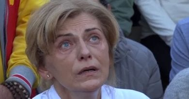 "Medjugorje: Mirjana — ""Then Our Lady showed me the realization of the first secret.  The vision appeared to me like a movie.  The earth was desolate…and there was upheaval of a region of the world…Pray for unbelievers, they do not know what awaits them."""