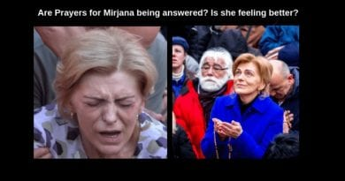 """Mirjana is feeling better – Pray that she is well in the heat for tomorrow's July 2, 2019 apparition…Watch dramatic video from a few months ago. """"The painful paths are paths which lead to spiritual growth, to faith, and to my Son."""" the Queen of Peace"""