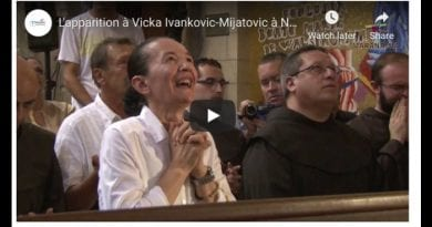 Medjugorje: Mary visits Vicka in Our Lady's and her Son's hometown of Nazareth – Amazing Moment at 1:30 seconds when Blessed Mother arrives