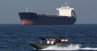 Signs: Iranian forces capture foreign oil tanker, seize crew.