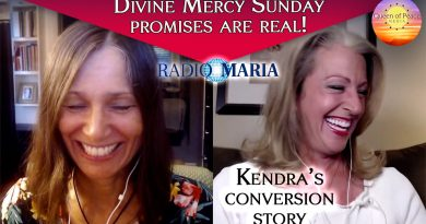 Divine Mercy Sunday promises are real! Find out how Kendra was converted to Catholicism!