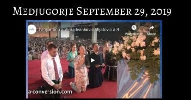 """Medjugorje: Vicka in Home town of Jesus – """"Massive turnout"""" …See Vicka at 2:00 minutes when Our Lady arrives. """"The Mother of Jesus arrives in Bethlehem"""""""