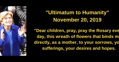"Medjugorje: ""Ultimatum to humanity""… In recent special message Our Lady leaves us a clear and firm notification:  ""The time has come to kneel before my son!"""
