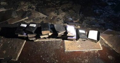 "Amazing – Fire burns  church down. Not a single Bible or cross was touched by the flames…Firefighter: ""In your mind, everything should be burned, ashes. Not a single bible was burned and not a single cross was harmed!!"""