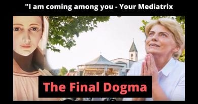 """Medjugorje – THE FINAL DOGMA – """"I am coming among you…I desire to be the bond between you and the Heavenly Father – your Mediatrix."""""""