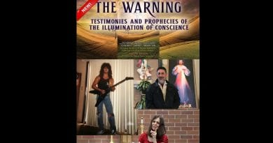 Best selling Catholic author, Christine Watkins will speak about the coming WARNING, also known as the ILLUMINATION OF CONSCIENCE, a long prophesied mystical event in humanity's future.