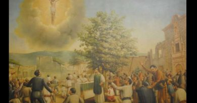 """Jesus in the Sky and the Miracle of the Flowering Crown of Thorns -""""Perfect image of Jesus Crucified appeared to 1000's of witnesses"""""""