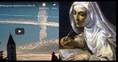 "Short Video of the Amazing ""Sky Cross"" that came to Medjugorje. And a Powerful prayer Saint Catherine of Siena teaches us to invoke the descent of the Holy Spirit this Sunday before Mass"