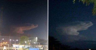 """The Hand of God"" – Mysterious cloud seen in the skies of Brazil – Miracle or omen?"