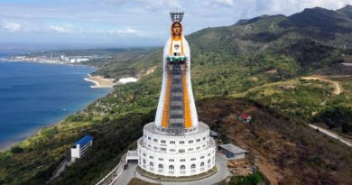 Impossibly tall – Soon-to-be the tallest statue of the Virgin Mary in the world…315 feet with 13 Marian chapels and a Shrine to Saint John Paul the Great – Spectaular Drone Video