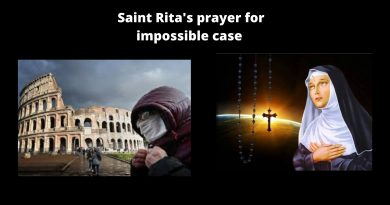 "The Super-Virus and Impossible times…Try this powerful prayer today to St.Rita for ""Impossible Cases"""