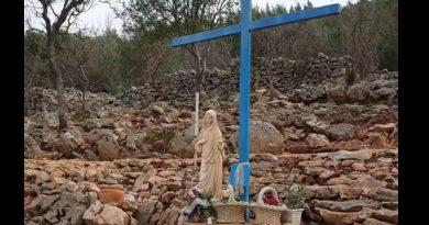 Powerful new video of Our Lady alone at the Blue Cross.   Medjugorje suffers from the corona super-virus and there are no pilgrims.   Keep Our Lady company and pray for her, for Medjugorje and the World.