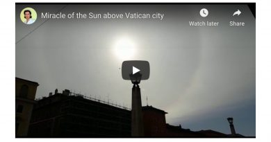 "Sign over the Vatican? New Video offering hope against the Corona supervirus: – ""The Miracle of the Sun"" has occurred in Rome."
