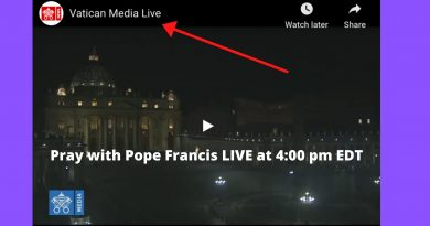 World Wide Pray the Rosary with Pope Francis at 4:00 PM EDT to end the Coronavirus Pandemic – Here is the Youtube Link to participate with Pope Francis and the World.. God Bless