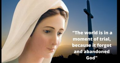 "The Coronavirus Pandemic – The Virgin Mary has warned:   ""The world is in a moment of trial, because it forgot and abandoned God…This is a time of your trial. With a rosary in hand and love in the heart set out with me."""
